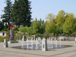 Fountains in downtown Lake Oswego