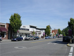 Numerous shops, restaurants and coffee stops line the revitalized Troutdale downtown