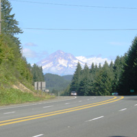 Mt Hood looks enormous on the 26