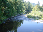 You'll ride along Washougal River for miles
